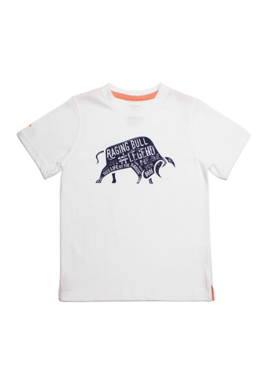 Raging Bull Word Bull Tee - White