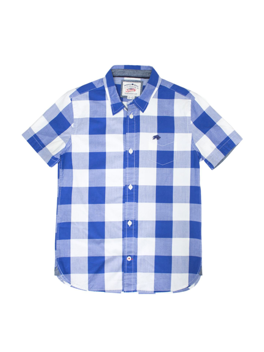Raging Bull - Short Sleeve Boys Check Shirt