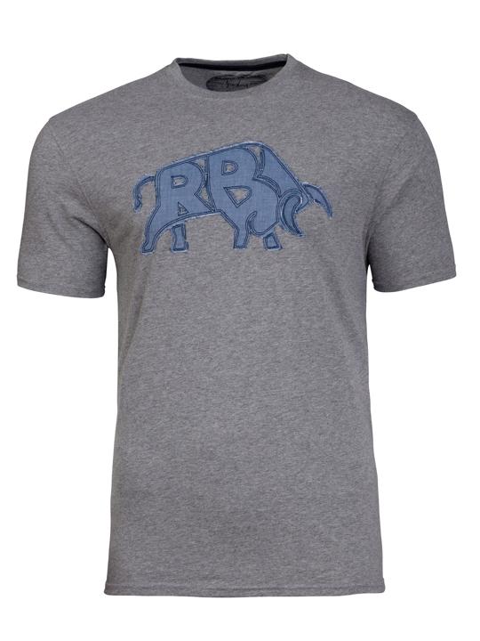 Raging Bull RB Bull Applique Tee - Grey