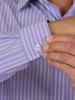Raging Bull 3 Colour Stripe Shirt - Purple