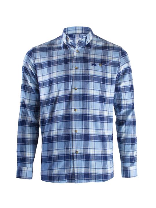 Raging Bull Plaid Brush Check Shirt - Sky Blue