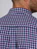 Raging Bull 3 Colour Cotton Check Shirt - Purple