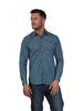 Raging Bull Multi Floral Print Shirt - Mid Blue