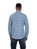 Raging Bull Micro Floral Print Shirt - Sky Blue