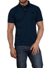 Raging Bull Embroidered Marl Polo - Navy