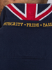 Raging Bull Crest Embroidered Rugby - Navy