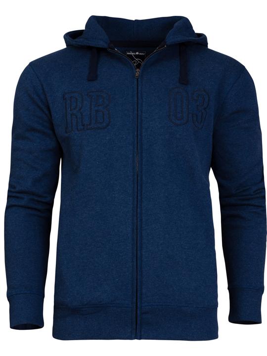 Raging Bull RB 03 Zip Thru Hoody  - Mid Blue