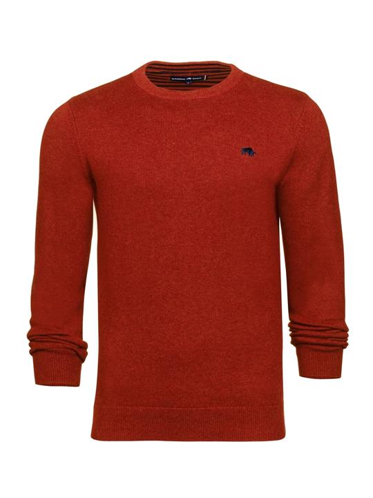 Raging Bull Crew Neck Cotton Cashmere Sweater - Orange
