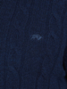 Raging Bull Cable Knit 1/4 Zip - Navy
