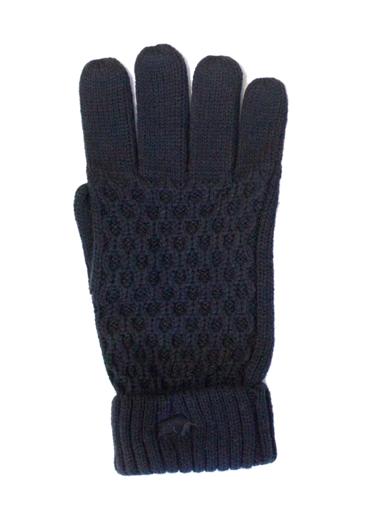 Raging Bull - Cable Knit Gloves - Navy
