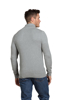 Raging Bull Textured Knit Quarter Zip - Grey
