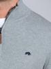 Raging Bull Textured Knit Quarter Zip - Grey