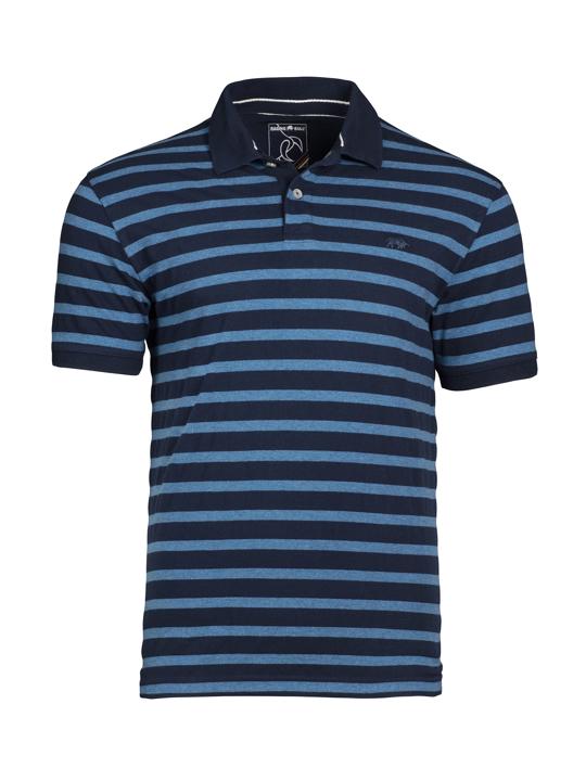 Raging Bull - Textured Stripe Polo - Indigo