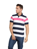 Raging Bull Contrast Stripe Polo - Vivid Pink