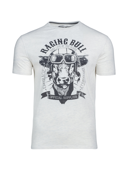 Raging Bull Big & Tall - Bull Biker Tee - Oatmeal