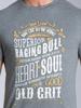 Raging Bull Heart & Soul Tee - Charcoal