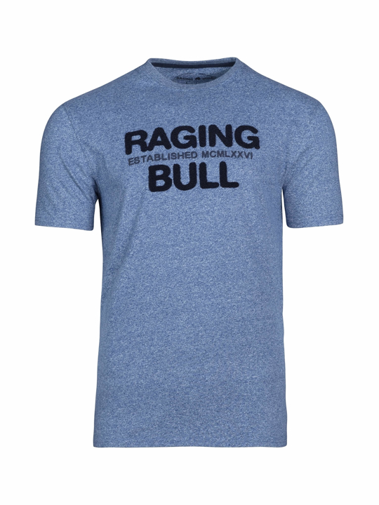 Raging Bull - Big & Tall - Boucle RB Tee - Mid Blue