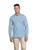 Raging Bull Big & Tall - Long Sleeve Micro Leaf Shirt - Cobalt