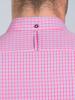 Raging Bull Long Sleeve Micro Check Shirt - Vivid Pink