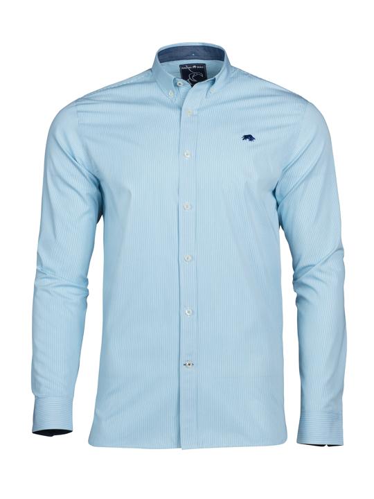 Raging Bull - Long Sleeve Candy Stripe Shirt - Sea Blue
