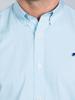 Raging Bull Long Sleeve Candy Stripe Shirt - Sea Blue