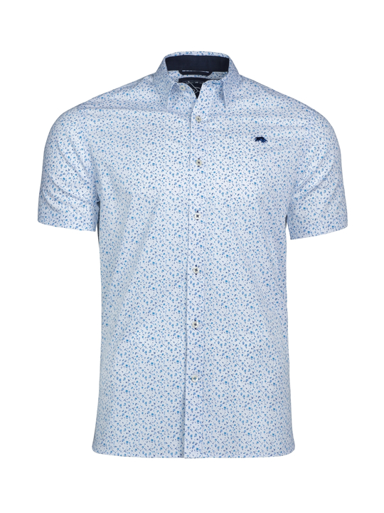 Raging Bull - Short Sleeve Ditzy Floral Print Shirt - White