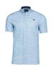 Raging Bull Short Sleeve Paisley Print Shirt - Petrol