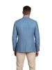 Raging Bull Herringbone Linen Blazer - Mid Blue