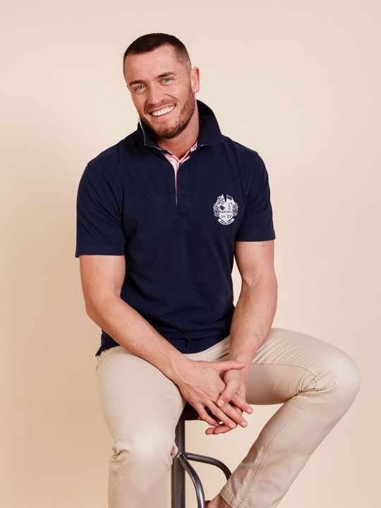 Raging Bull - Short Sleeve Signature Rugby - Navy
