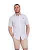 Raging Bull Short Sleeve Ditzy Floral Print Shirt - White/Purple