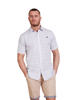 Raging Bull Big & Tall - Short Sleeve Ditzy Floral Print Shirt - White/Purple