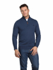 Raging Bull Big & Tall - Knitted Cotton/Cashmere Quarter Zip - Midnight