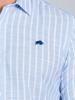 Raging Bull Short Sleeve Bengal Stripe Shirt - Sky Blue