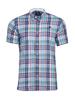 Raging Bull Short Sleeve Slub Check Shirt - Navy