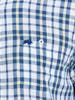 Raging Bull Big & Tall - Short Sleeve Yarn Dyed Check Shirt - White