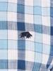 Raging Bull Big & Tall - Short Sleeve Linen Look Check Shirt - Sky Blue