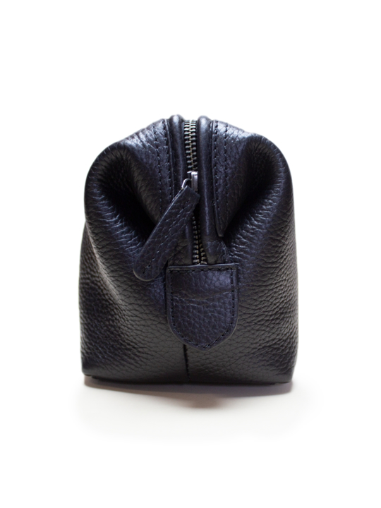 Raging Bull - Leather Wash Bag - Black