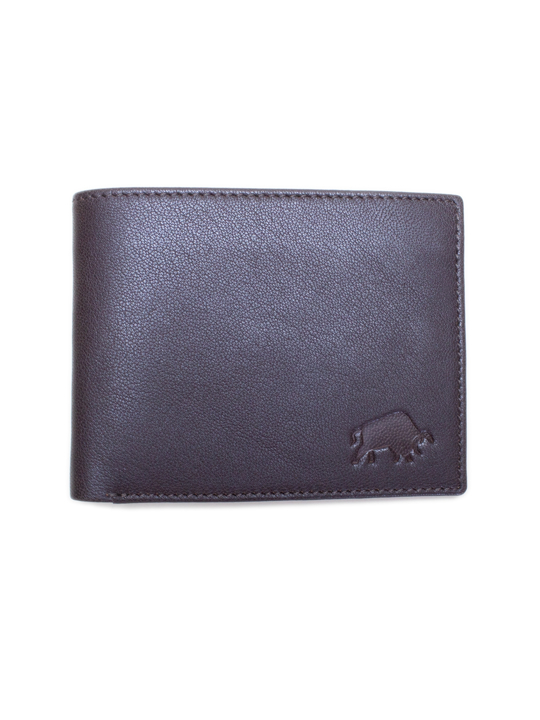 Raging Bull - Leather Card Wallet - Brown