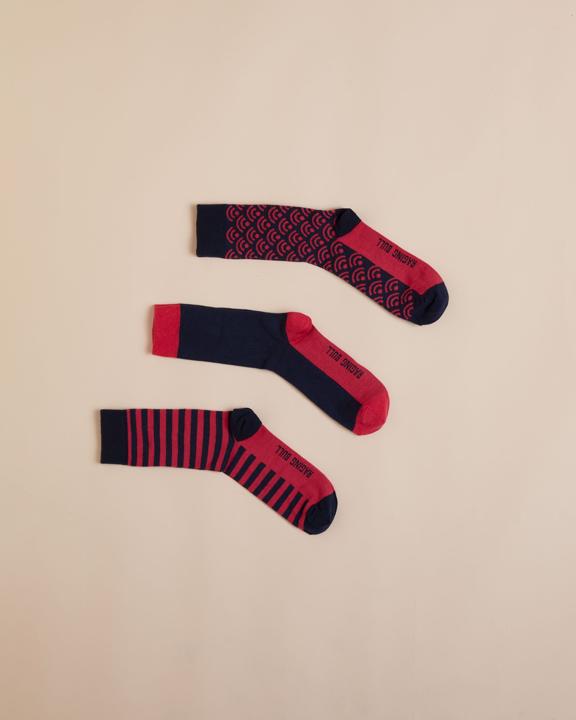 Raging Bull 3Pk Mens Socks - Vivid Pink