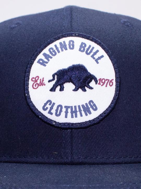 Raging Bull - Patch Snapback Cap - Navy