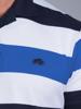 Raging Bull Contrast Stripe Polo - Cobalt
