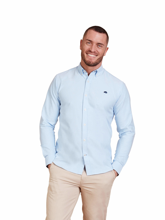 Raging Bull - Big & Tall - Long Sleeve Signature Oxford Shirt - Sky Blue