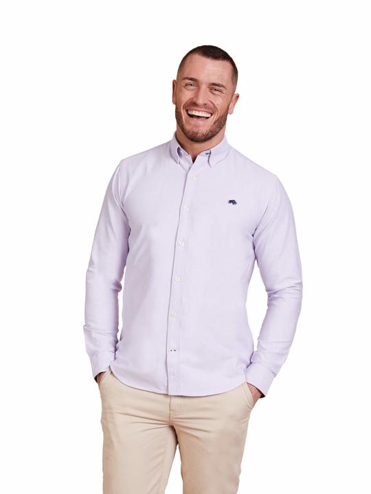 Raging Bull - Big & Tall - Long Sleeve Signature Oxford Shirt - Purple