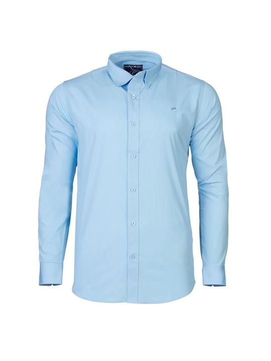Raging Bull - Long Sleeve Signature Poplin Shirt - Sky Blue