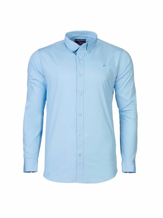 Raging Bull - Big & Tall - Long Sleeve Signature Poplin Shirt - Sky Blue