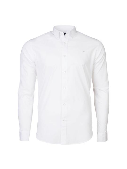 Raging Bull - Long Sleeve Signature Poplin Shirt - White