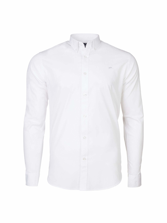 Raging Bull - Big & Tall - Long Sleeve Signature Poplin Shirt - White