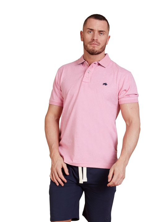 Raging Bull - Signature Jersey Polo - Pink