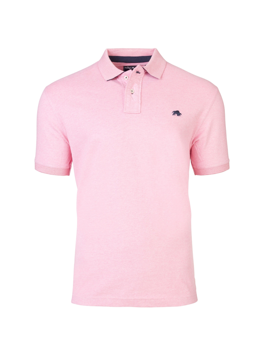 Raging Bull Signature Jersey Polo - Pink