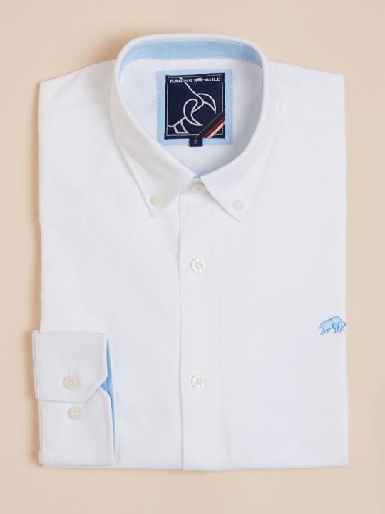 Raging Bull - Long Sleeve Signature Oxford Shirt - White